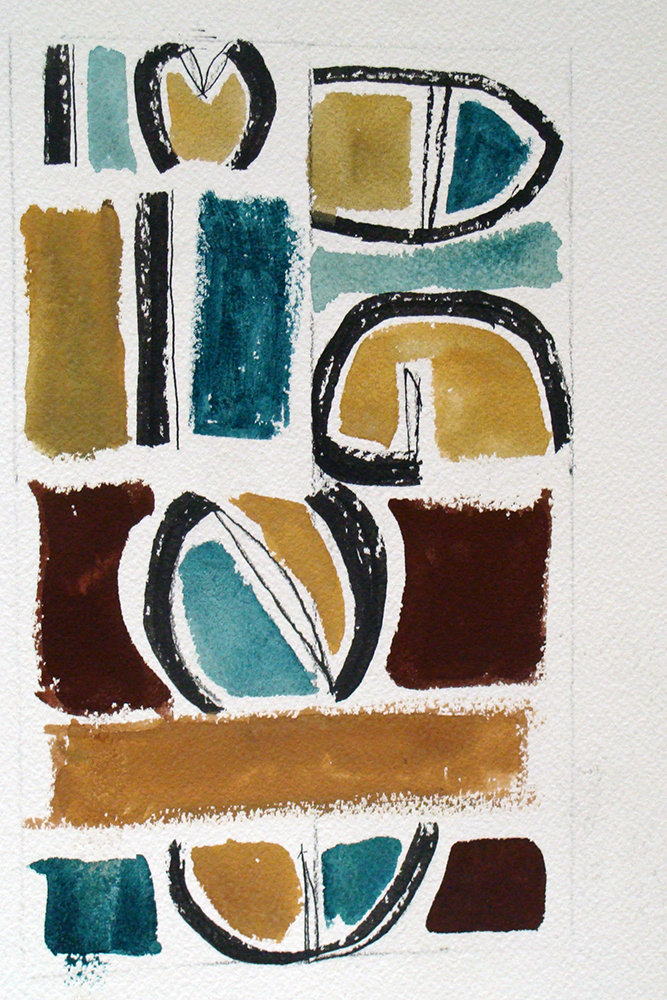 The abstract composition I created. It reads Imagine. Inspired by Julian Lennon's song